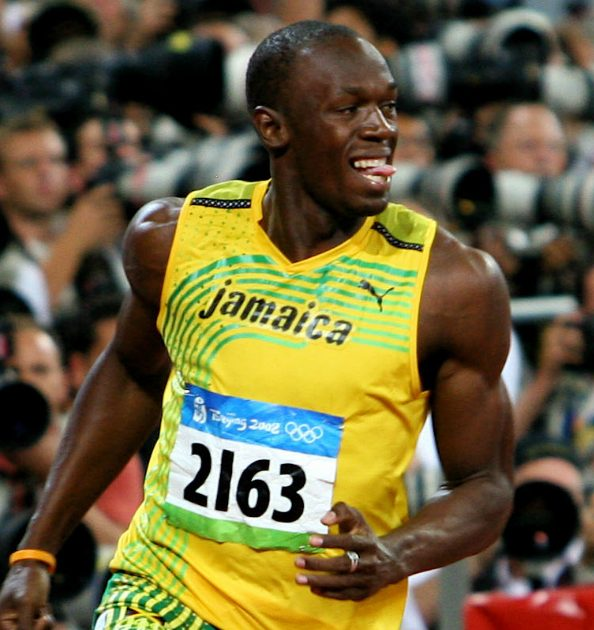 Usain Bolt por Richard Gilles , CC-BY-SA ,